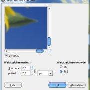 GIMP: Gaußscher Weichzeichner