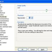 TweakUI Powertoy: Einstellungen für Miniaturansichten