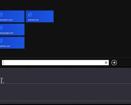 Windows 8: Metro-Handschrift-Eingabebereich