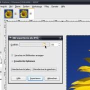 GIMP: JPG-Qualität beim Exportieren