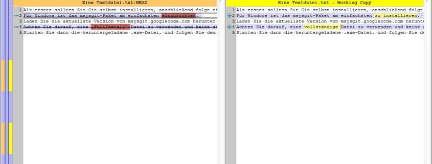 Dateien vergleichen mit TortoiseMerge