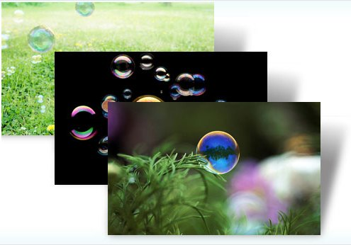 Windows 7: Design Seifenblasen, © Microsoft