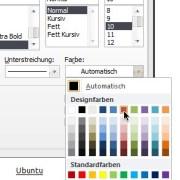 Word: Farbe für Unterstreichungen festlegen