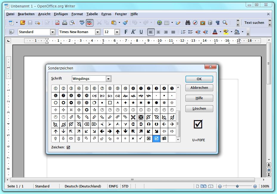Openoffice Writer Sonderzeichen In Dokumente Einfügen Schiebde