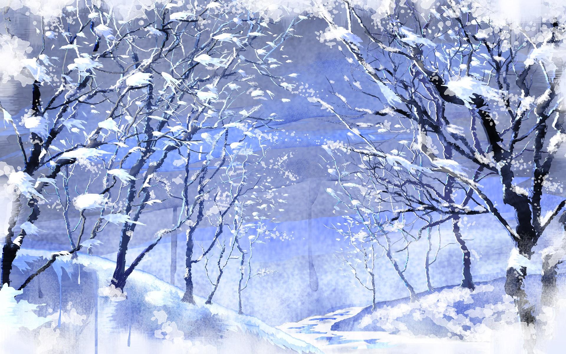 Winterlandschaft hintergrund pc
