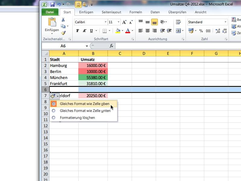 Zeilen oder spalten in eine excel tabelle einf gen for Tabelle 2 spalten