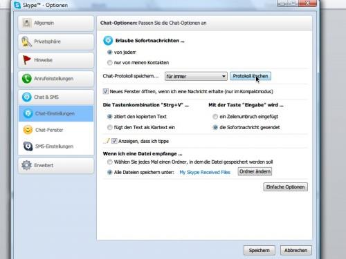 skype-optionen-chat-protokoll-loeschen