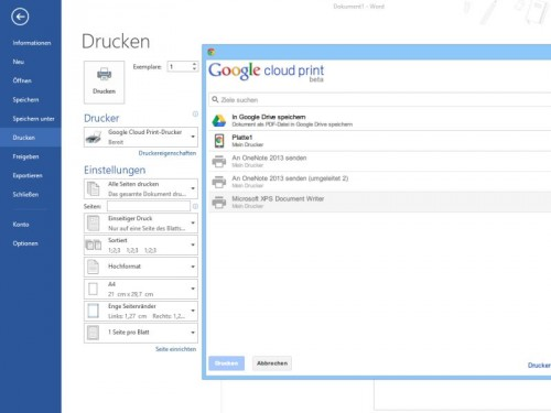 google-cloud-print-treiber