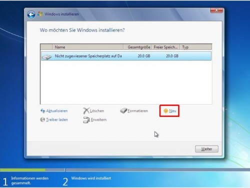 windows-setup-neue-partition-anlegen