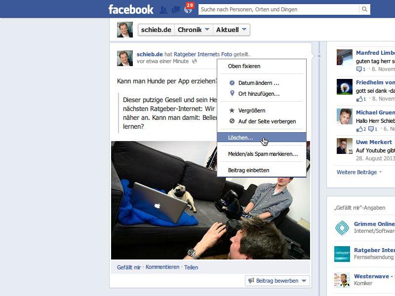 Facebook Verborgene Beiträge Löschen
