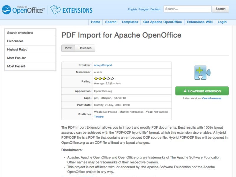 Openoffice Pdf Import