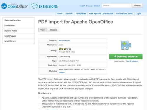 PDF-Dateien mit Gratis-OpenOffice bearbeiten - schieb de