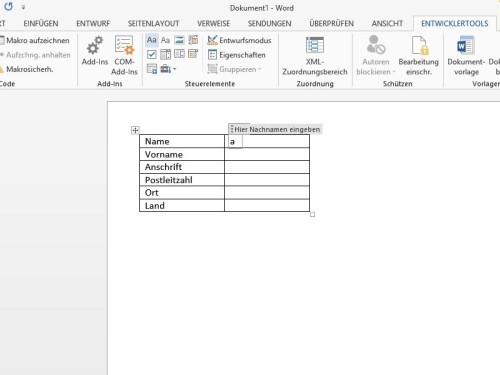 word-formular-textfeld-einfuegen