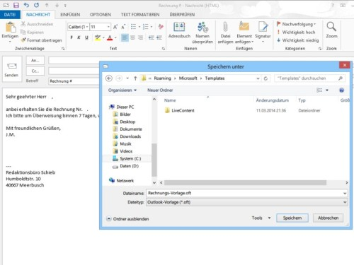 outlook-mailvorlage-speichern