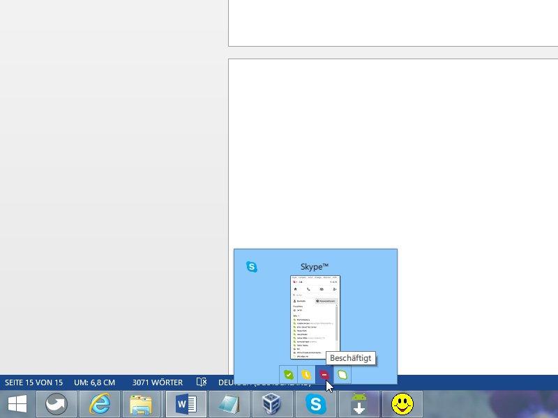Skype: Onlinestatus von der Taskleiste aus steuern   schieb.de