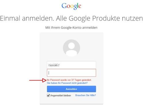 google-kennwort-wann-geaendert