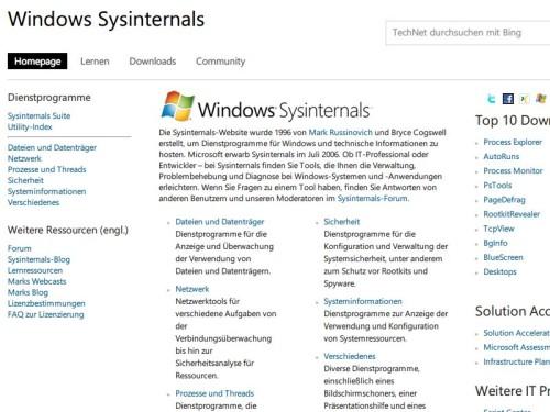 technet-sysinternals