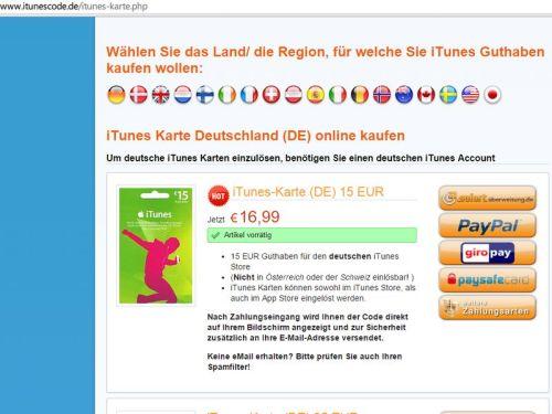 Paypal Karte Kaufen.Itunes Guthaben über Paypal Aufladen Schieb De