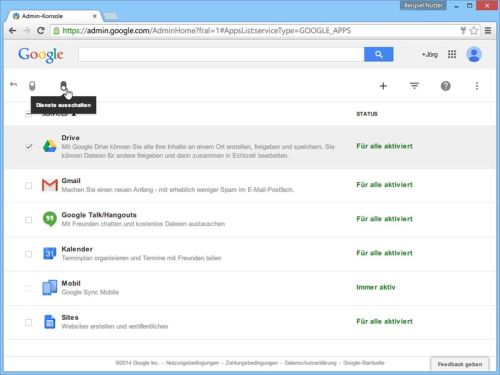 google-apps-aktivierte-dienste