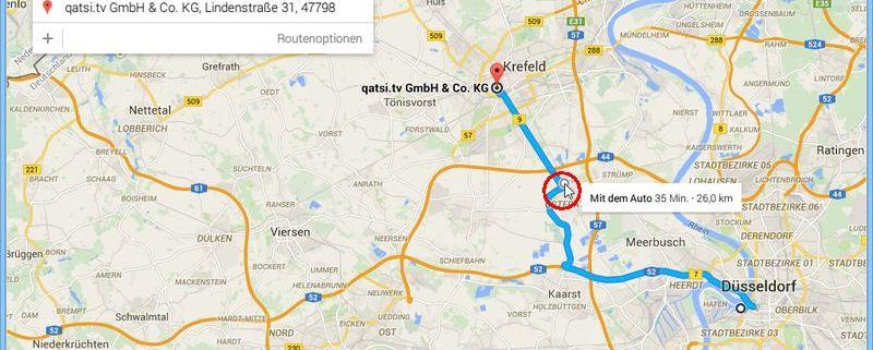 Google-Maps-Routen-Planer: Berechnete Route anpassen - schieb.de