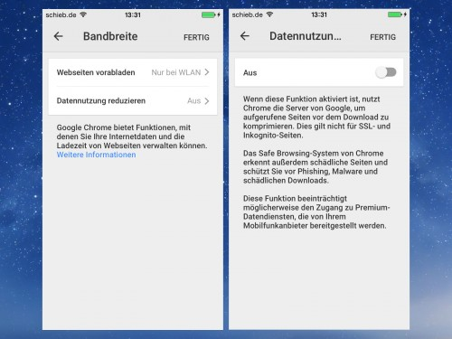 ios-chrome-bandbreite