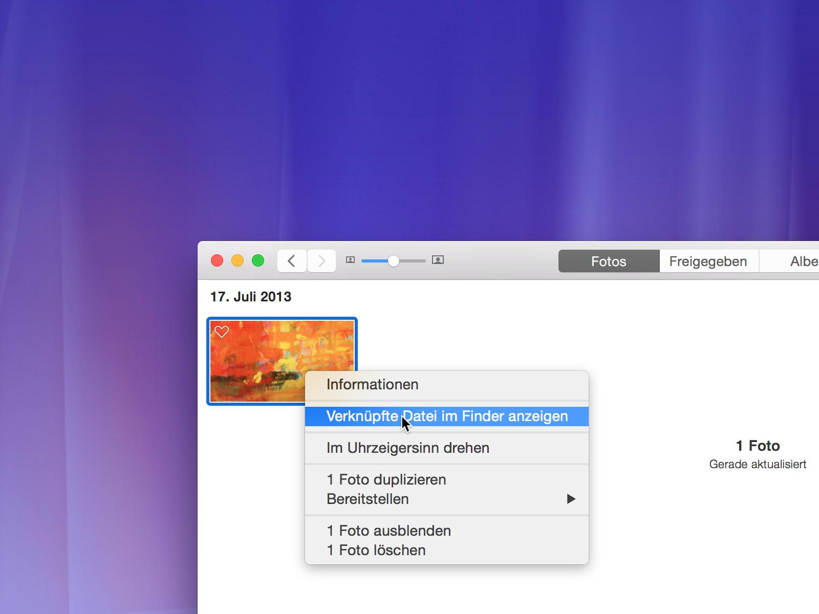 Mac Fotos Im Finder Anzeigen