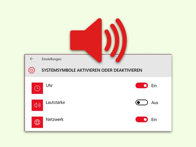 Lautstärke-Symbol nicht in der Taskleiste anzeigen lassen | schieb.de