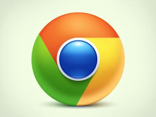 chrome-logo-3d