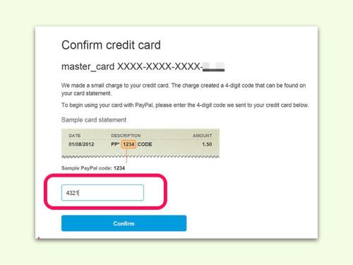 Paypal Bankkonto Bestatigen