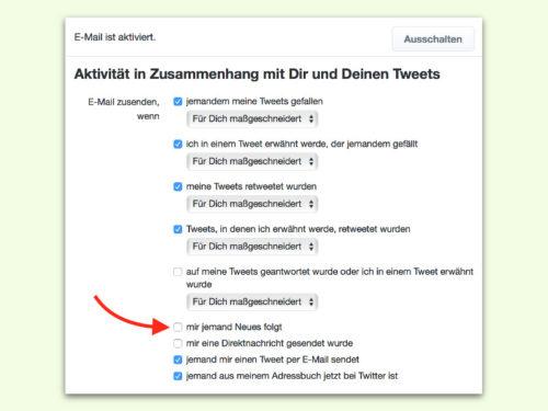 Twitter Email Benachrichtigungen Abschalten