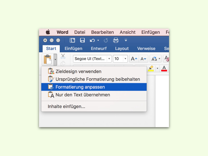 Hintergrund text word