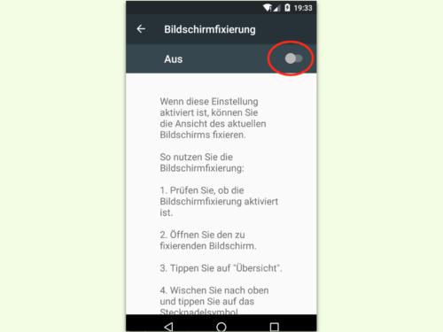 android-bildschirm-fixierung