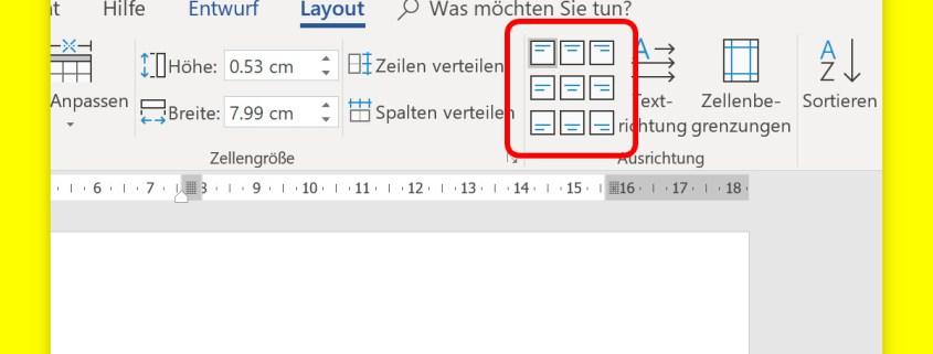 Text In Tabellen Ausrichten Schieb De