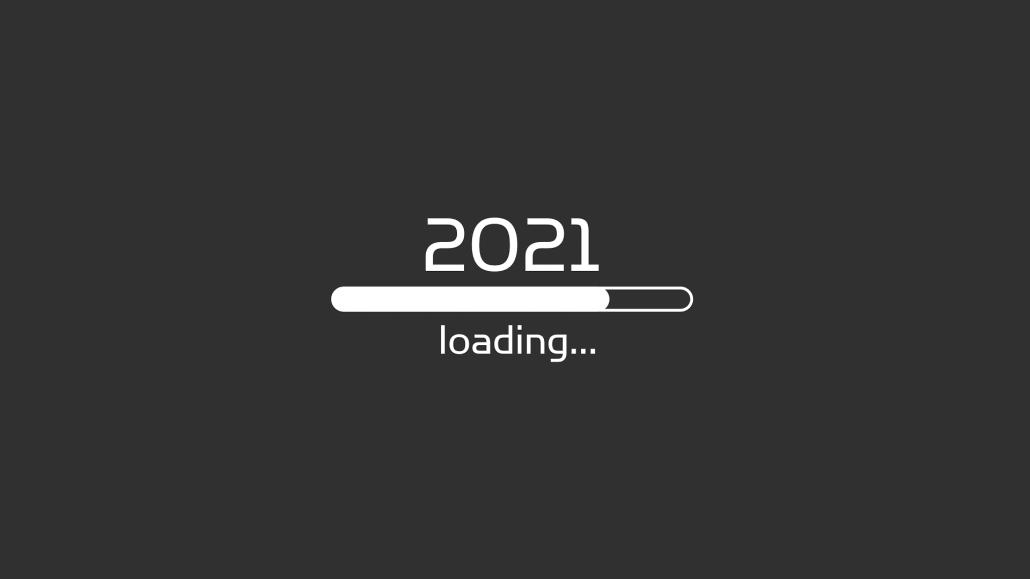 Das Jahr 2021 wird geladen. Der Ladebalken ist dabei bereits zu etwa drei Viertel gefüllt.