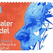 Briefmarke mit QR Code