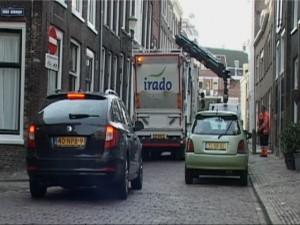 Irado aan het werk in de Nieuwstraat.