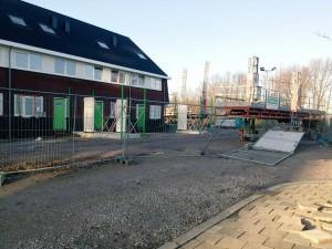 In januari werden de woningen in aanbouw ook al eens bezocht door ongenode gasten. Daarbij werden meerdere voetafdrukken achtergelaten.