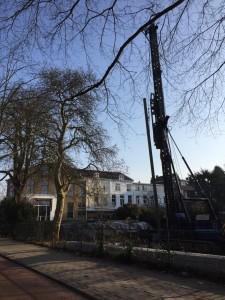 Zorgen zijn er wel voor het heien naast een monumentale boom op de hoek Warande met de BK-laan.