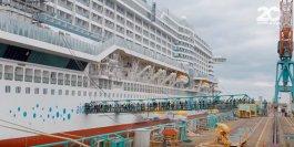 AIDAprima wird bezogen: AIDA Mitarbeiter ziehen auf ihrem neuen Arbeitsplatz ein / © AIDA Cruises