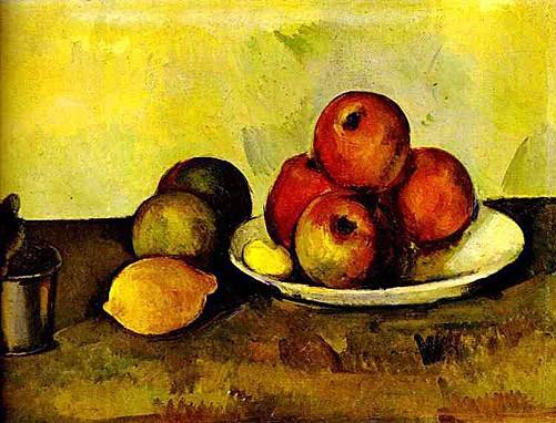 Schilderij Stilleven met appels