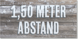 co0200 1,50 Meter Abstand