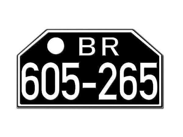 Motorrad Nummernschild BR Britische Zone Rheinland 1948
