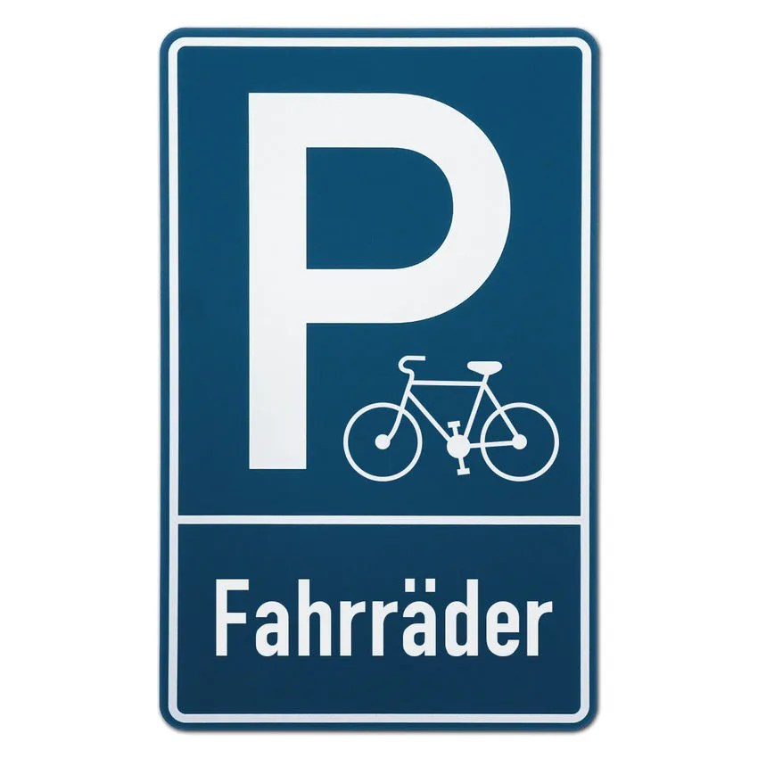Parkplatzschild Fahrrder  Hausnummern und Schilder