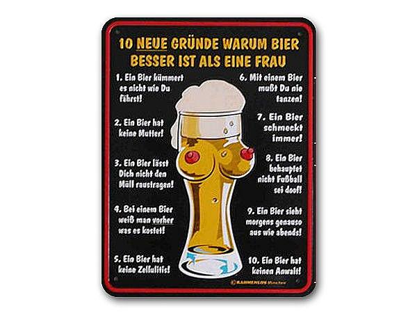 Funschild 10 neue Grnde warum Bier besser ist als eine