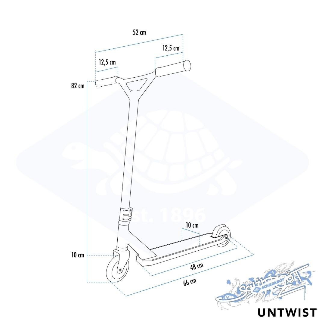 Schildkröt Stunt Scooter Untwist, Design: Ocean
