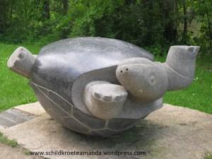 Schildkröte Denkmal Bamberg Tschernobyl