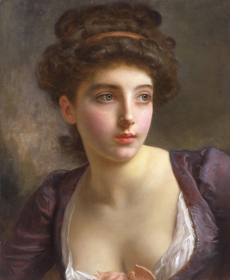 A Court Beauty by Gustave Jean Jacquet (French, 1846 - 1909)
