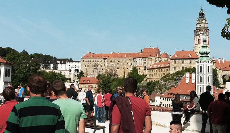 - Schinko Betriebsausflug:  Besuch des Schlosses in Budweis.