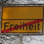 Ortsschild in Osterrode, Harz, Freiheit