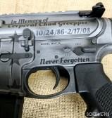 Tactical grey cerakote AR